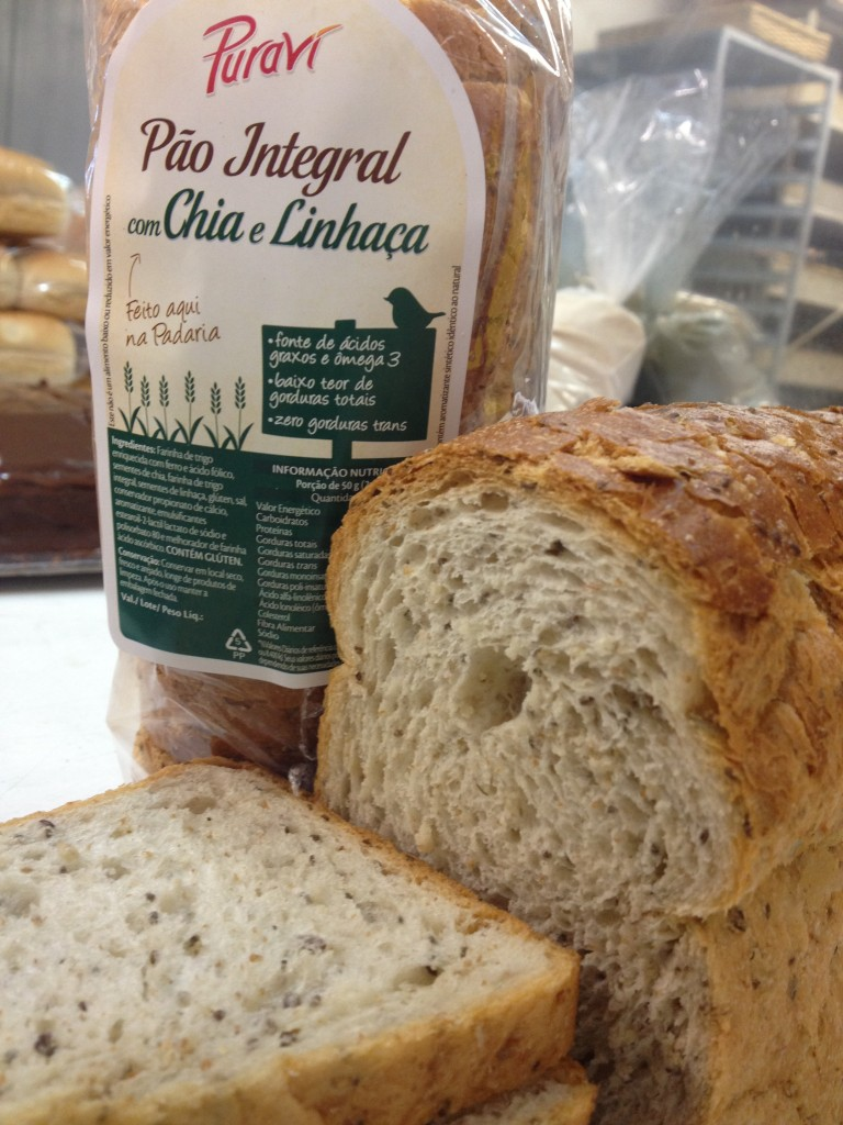 pão integral chia